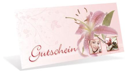 Geschenk-Gutschein für Kosmetik und Haarentfernung